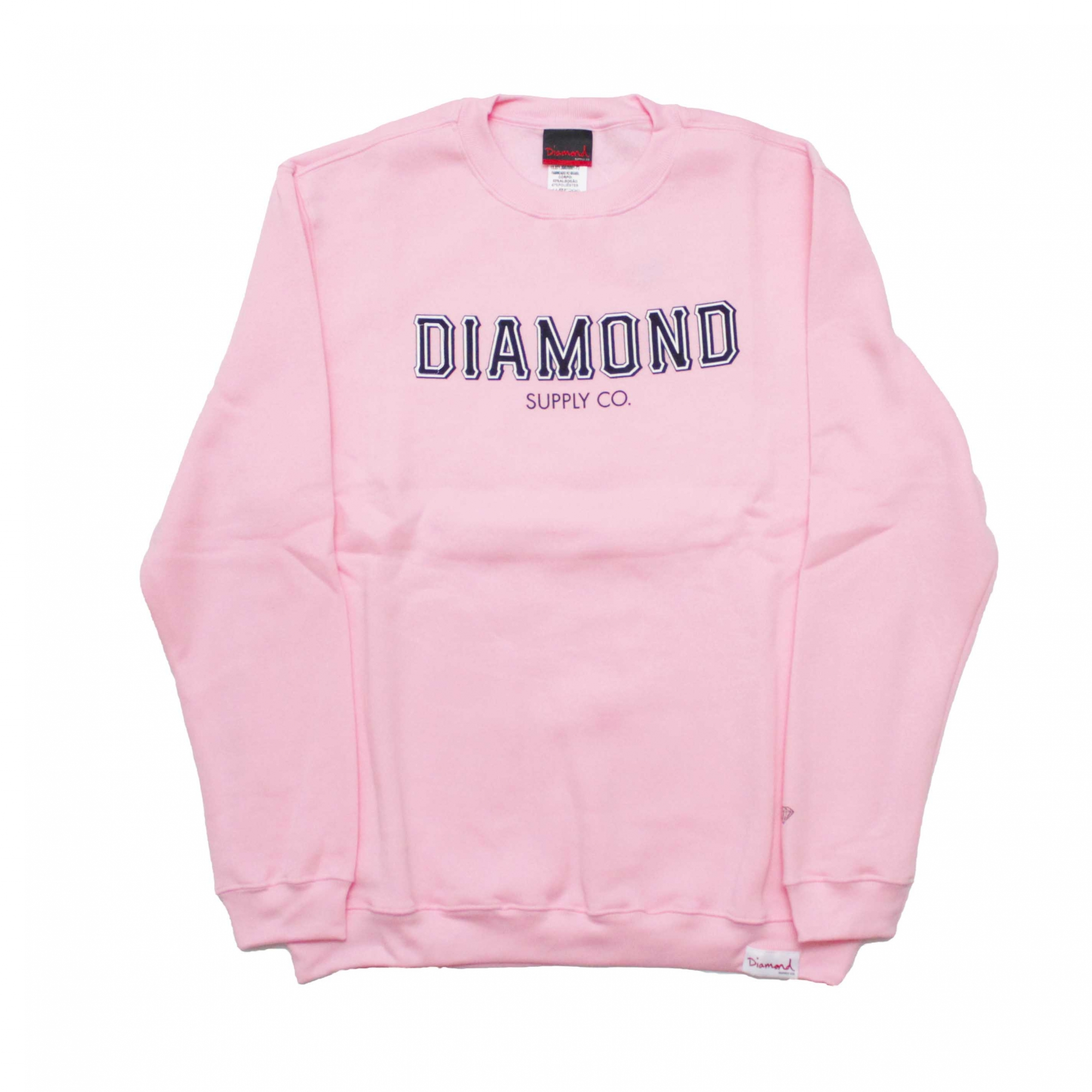 Moletom Diamond Careca SF Fleece - Rosa