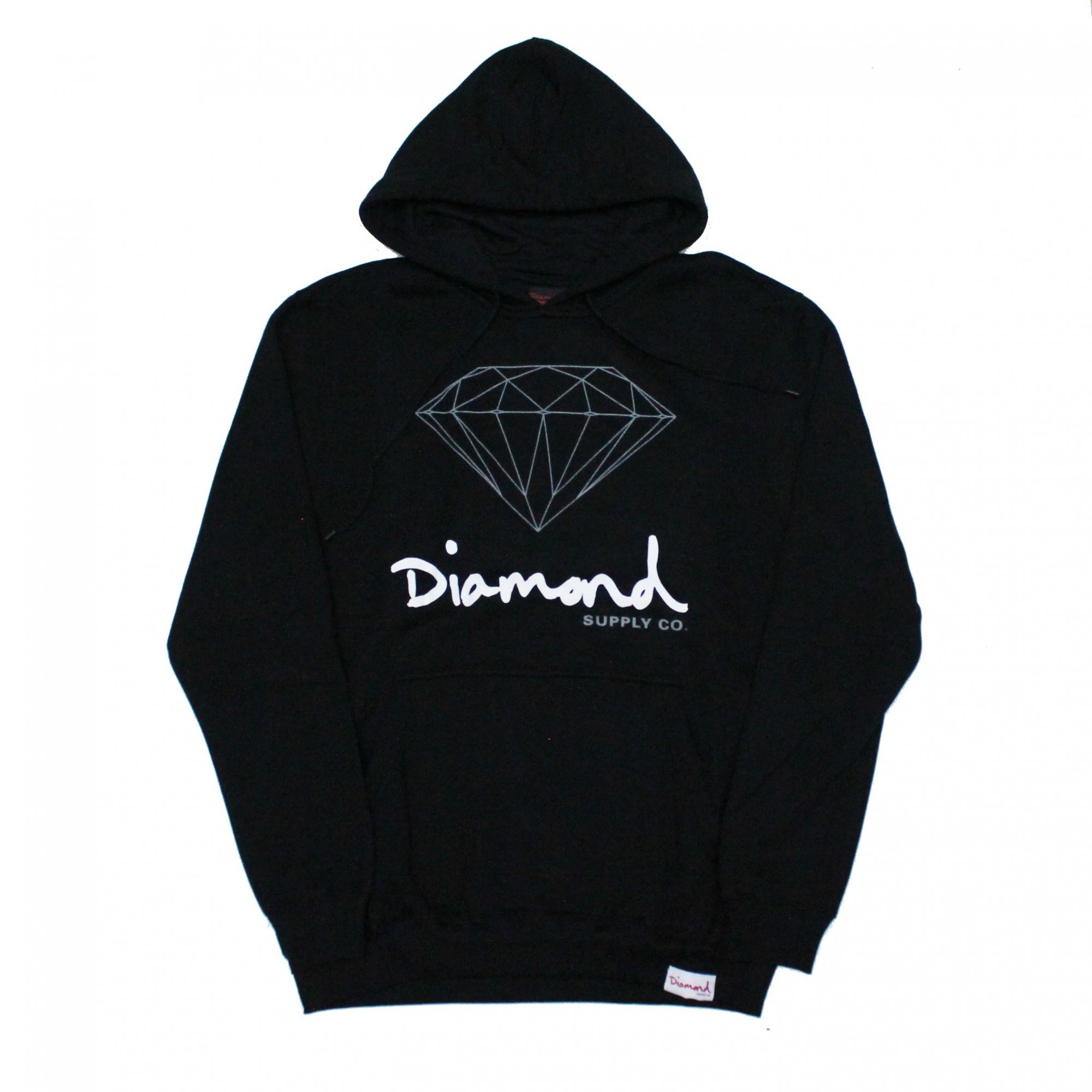 Moletom Diamond Fechado OG Sign Preto