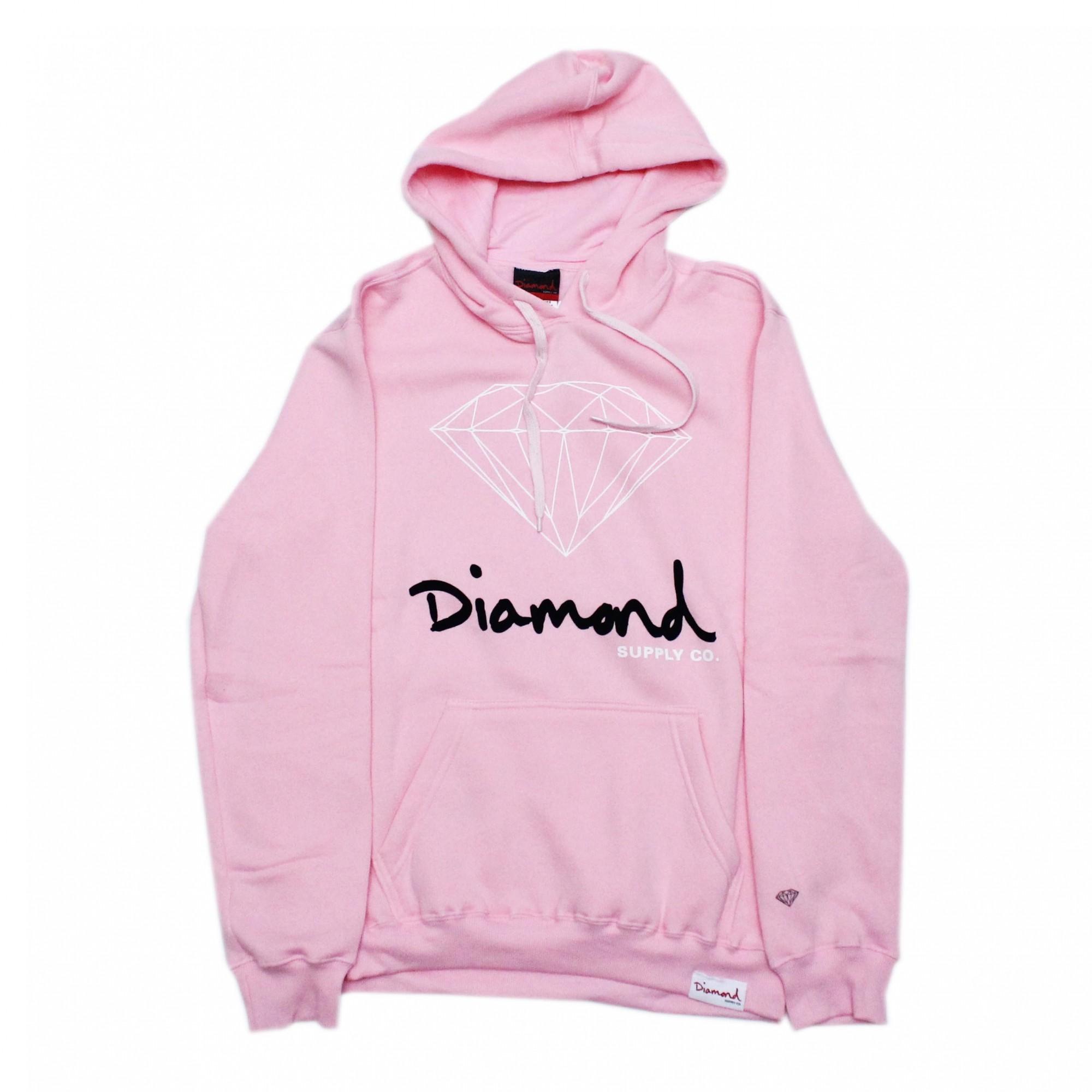 Moletom Diamond Fechado OG Sign - Rosa