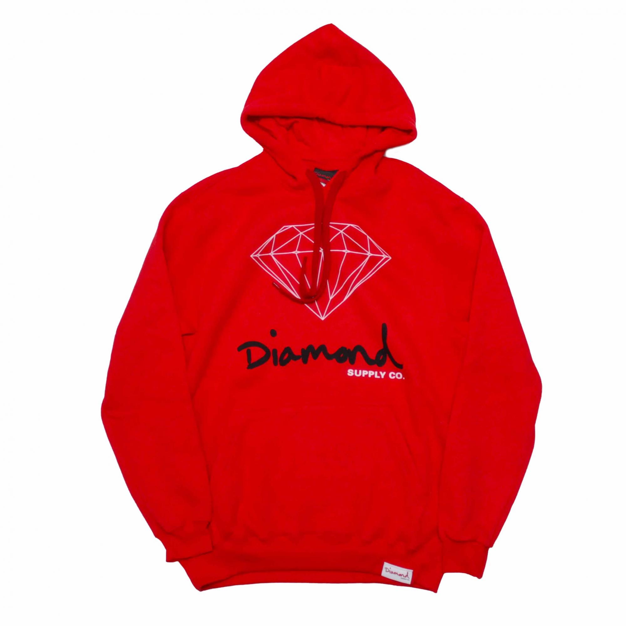 Moletom Diamond Fechado OG Sign - Vermelho