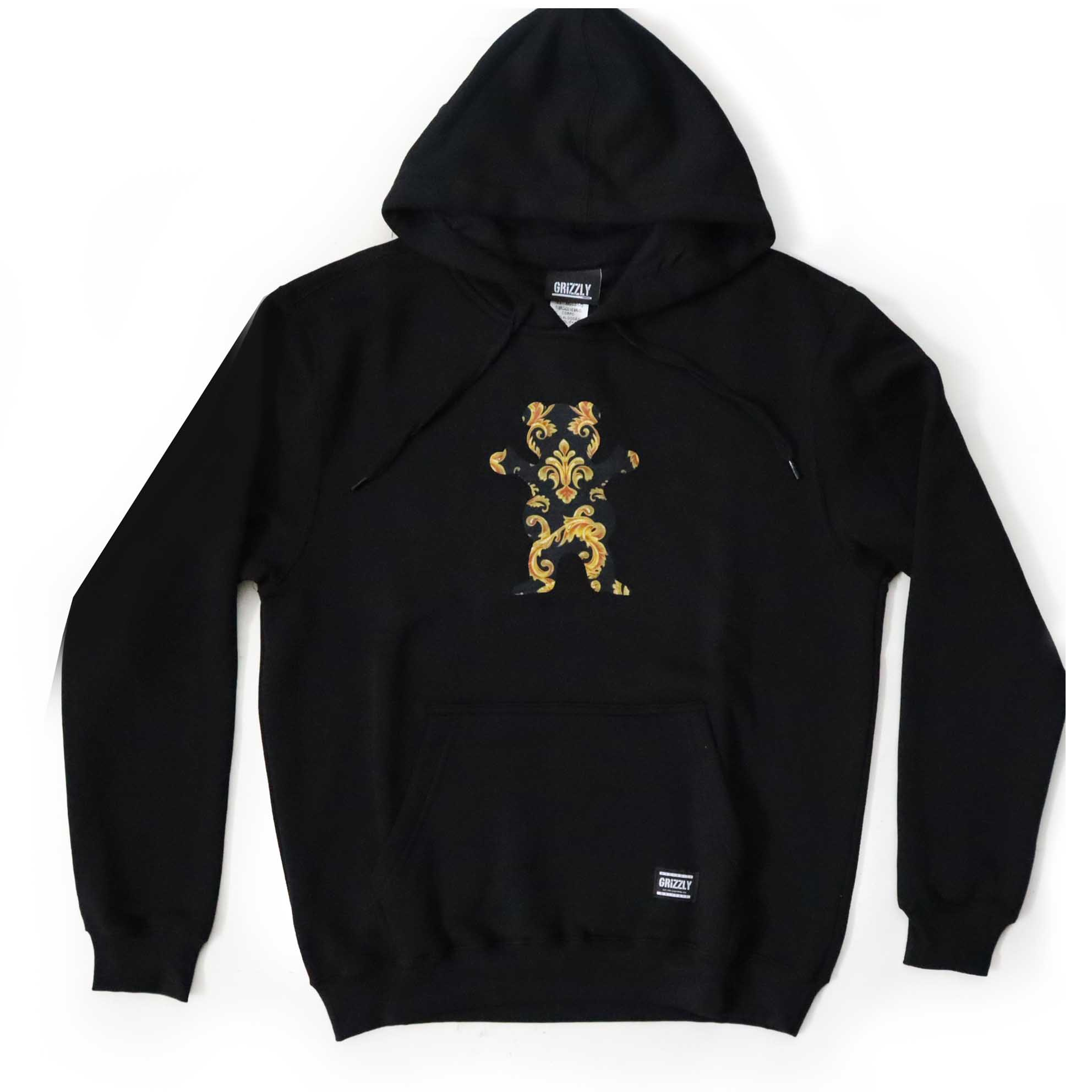 Moletom Grizzly Canguru Gold Leaf Bear - Preto