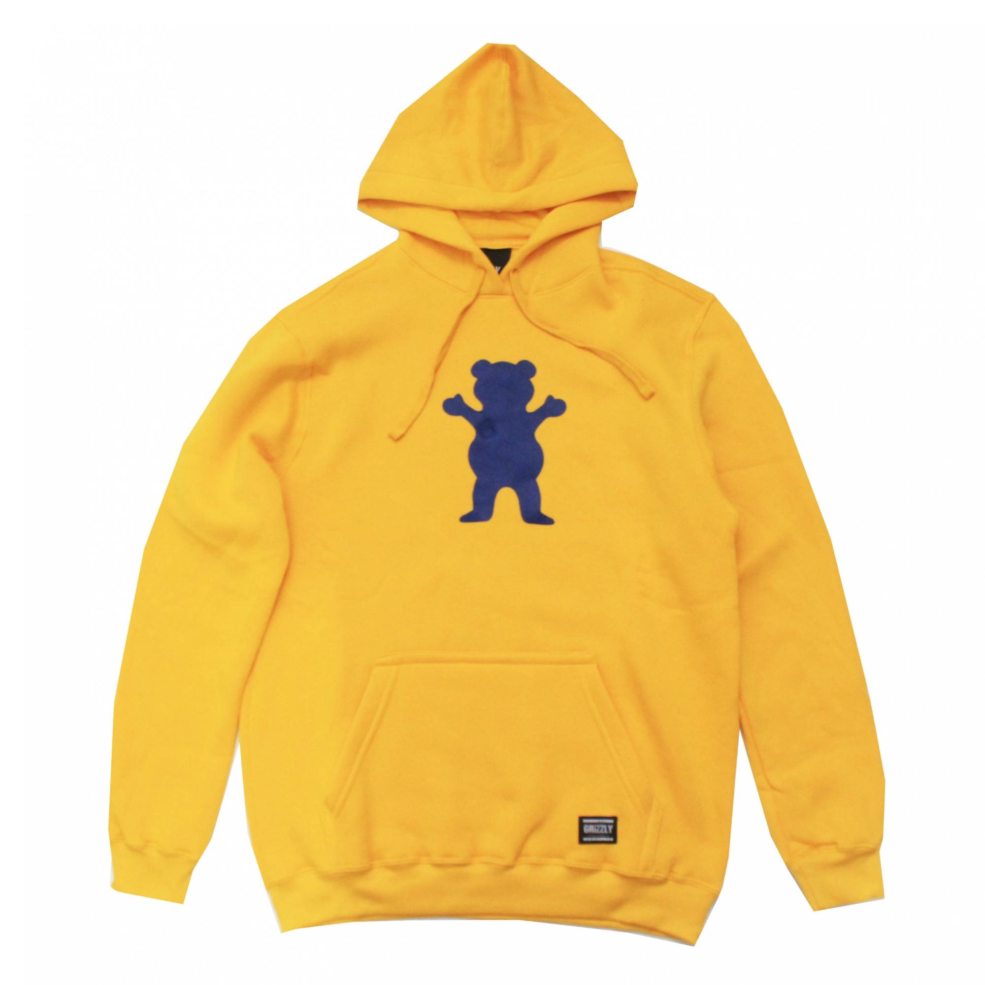 Moletom Grizzly Canguru Og Bear - Amarelo/Azul