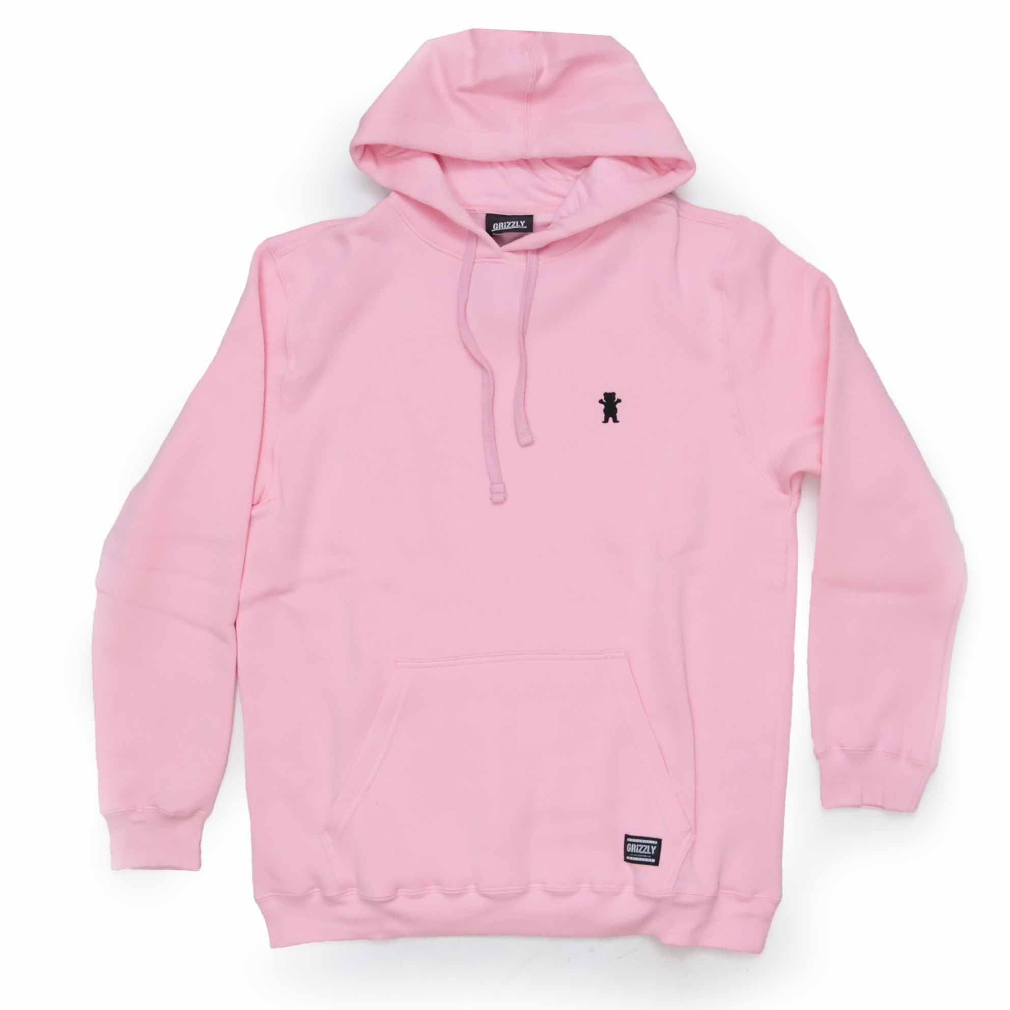 Moletom Grizzly Canguru Og Bear Pullover Bordado - Rosa