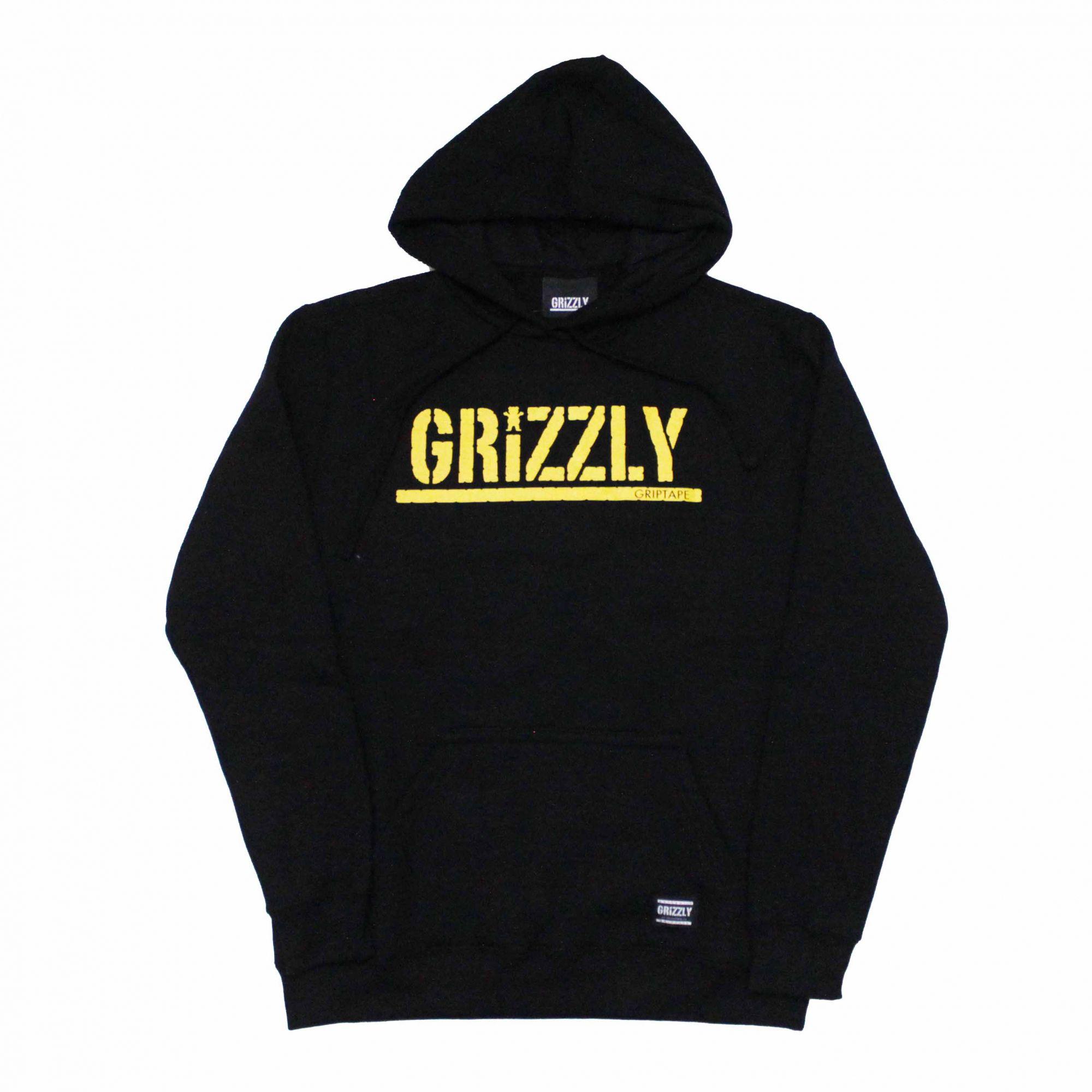 Moletom Grizzly Canguru Yellow Stamped Preto