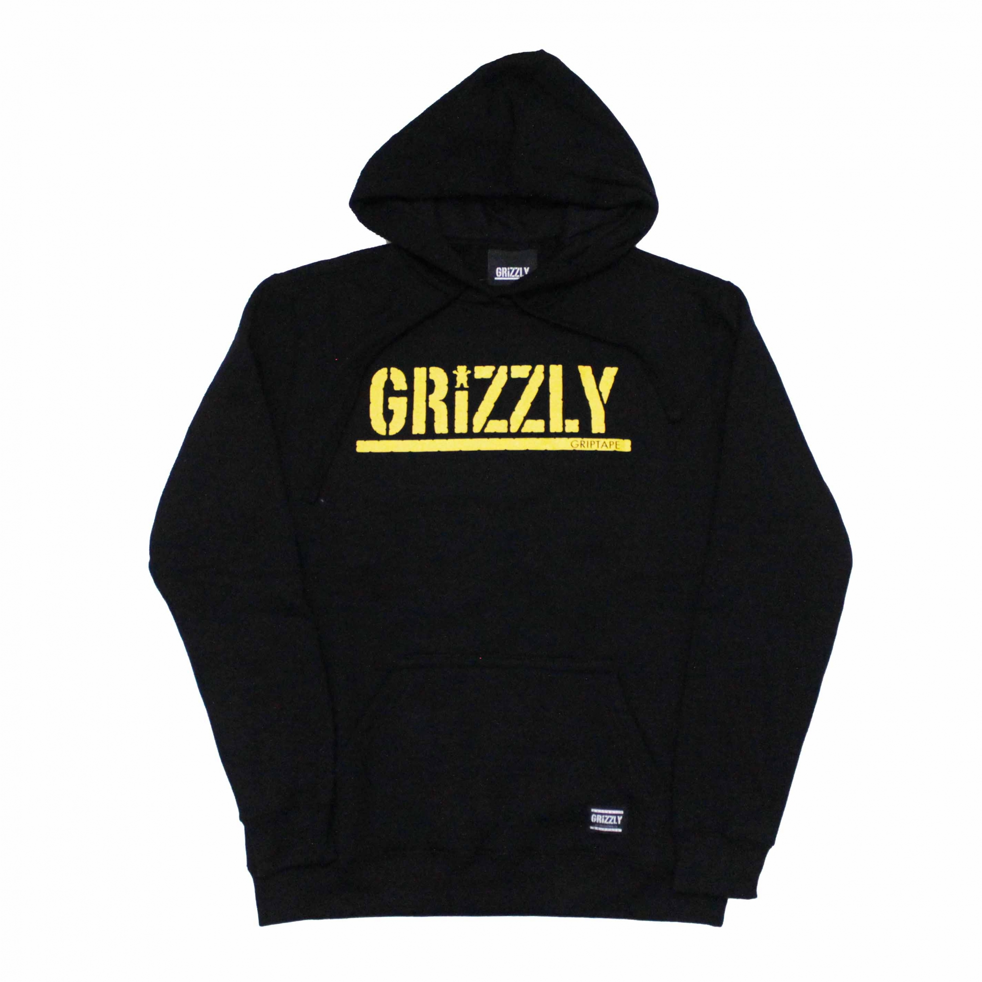 Moletom Grizzly Canguru Yellow Stamped - Preto