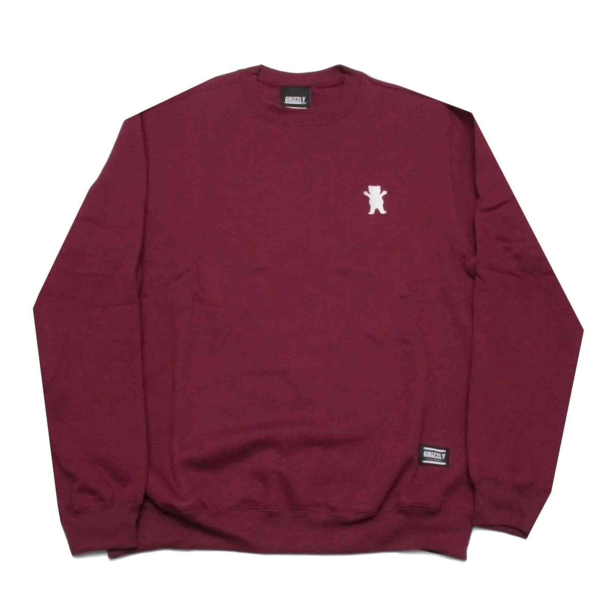 Moletom Grizzly Crewneck Og Bear Embroidered Red