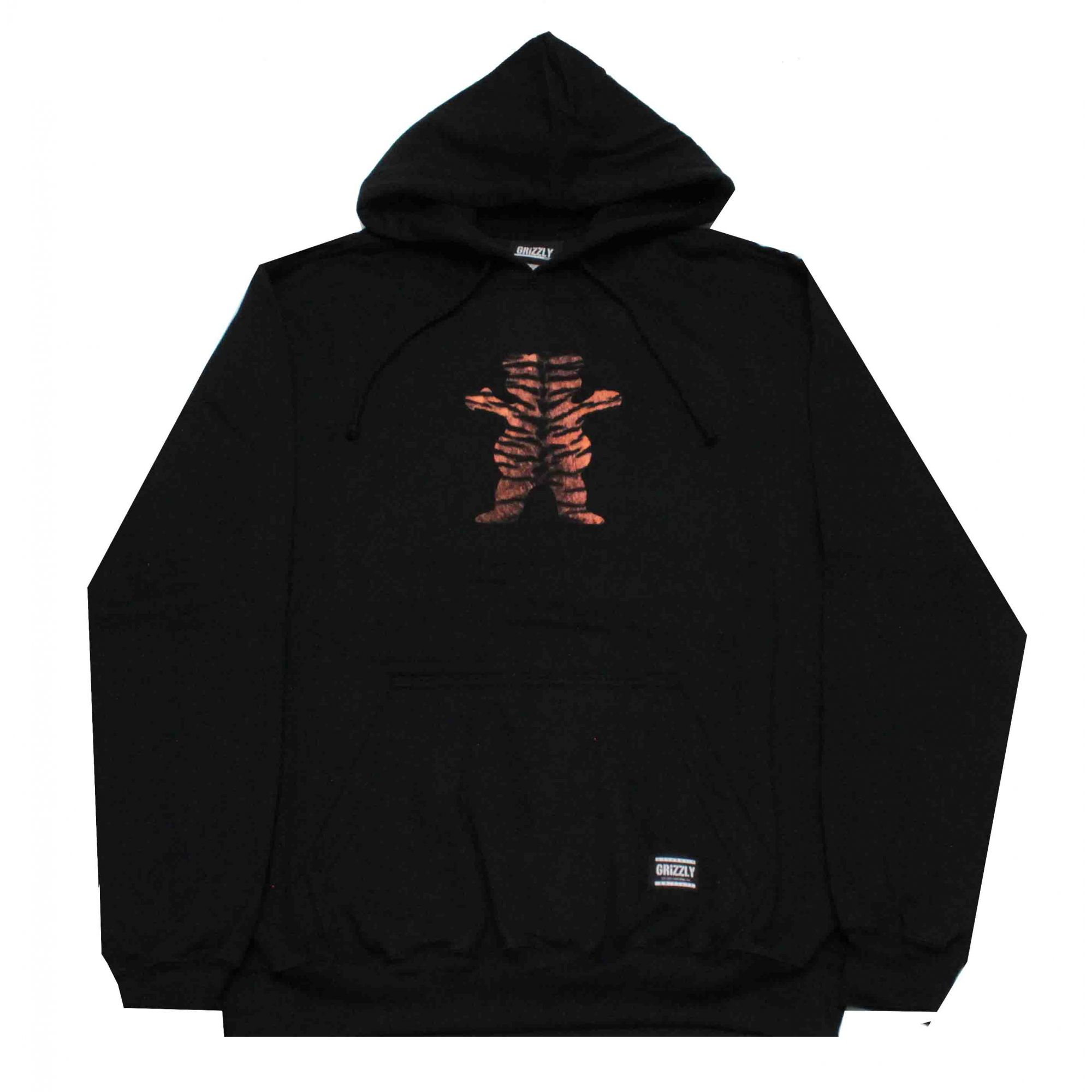 Moletom Grizzly Tiger Stripe Og Bear Hoodie Black