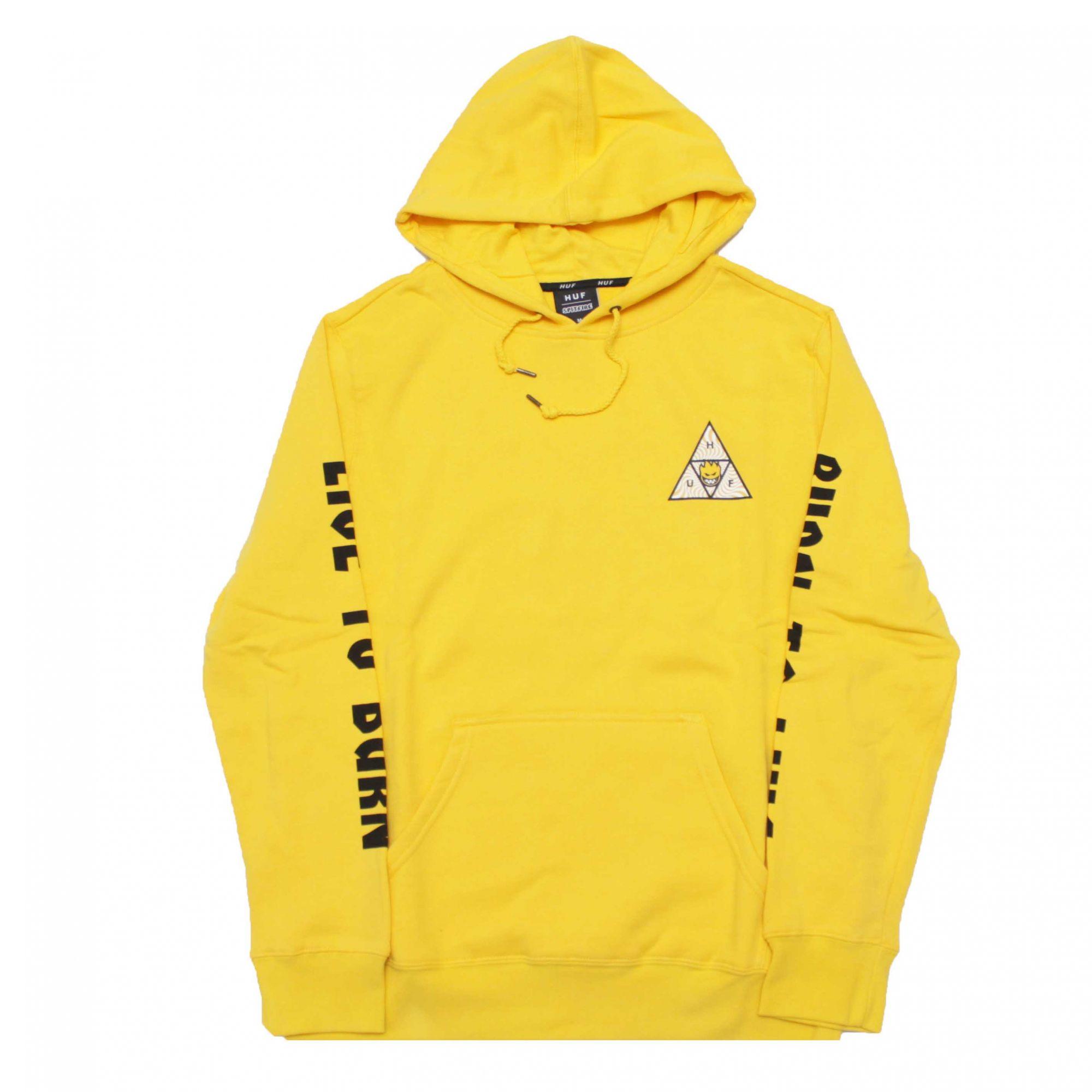 Moletom HUF x Spitfire Triangle Amarelo (Importado)