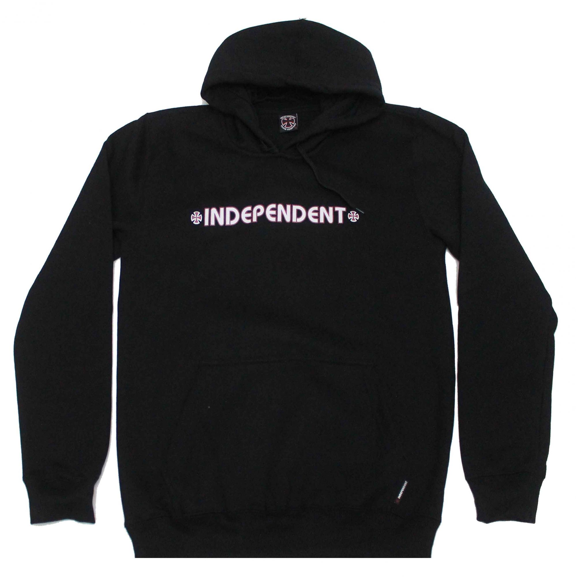 Moletom Independent Hood Bar Cross Logo 3 Colors Black
