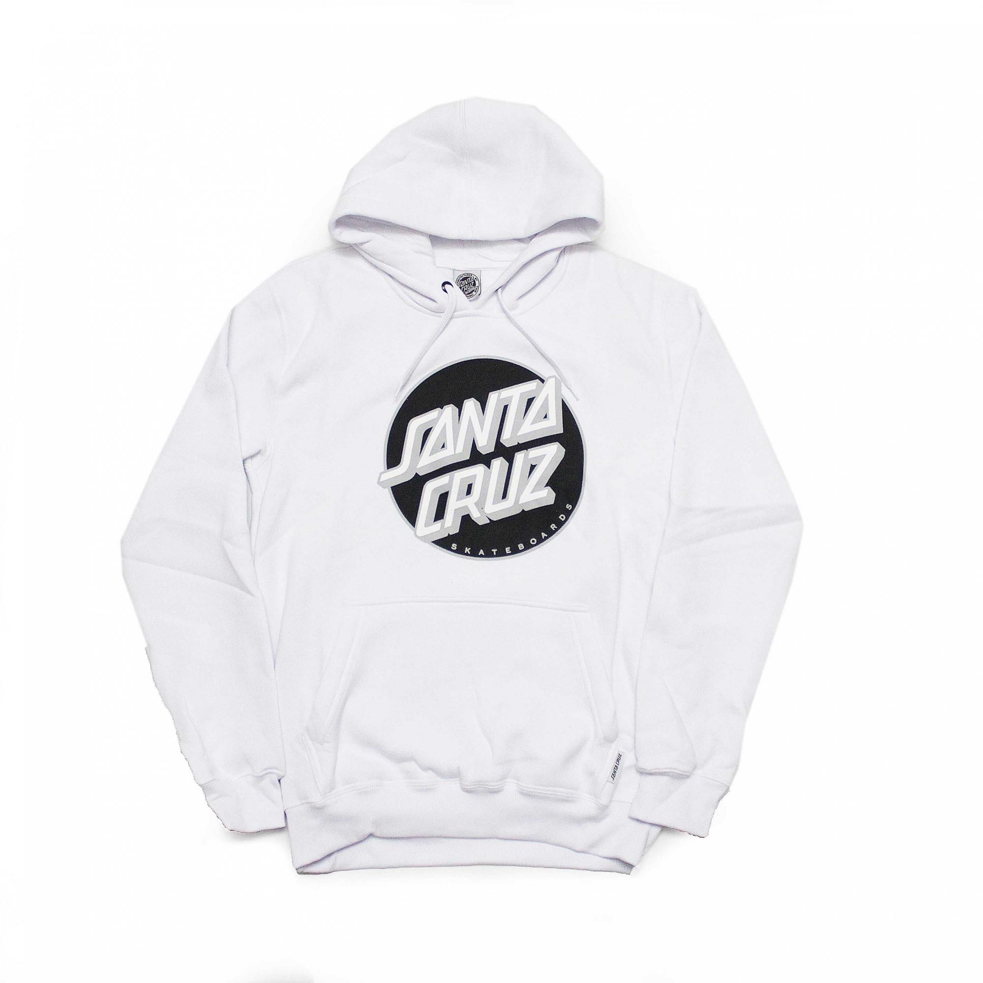Moletom Santa Cruz Canguru Classic Dot 2 - Branco
