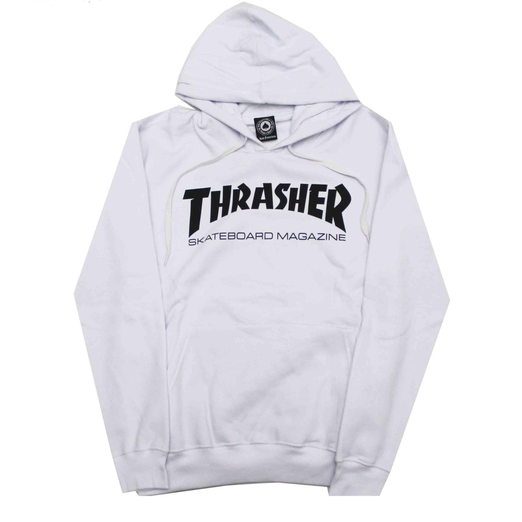Moletom Thrasher Magazine Canguru Skate Mag Branco