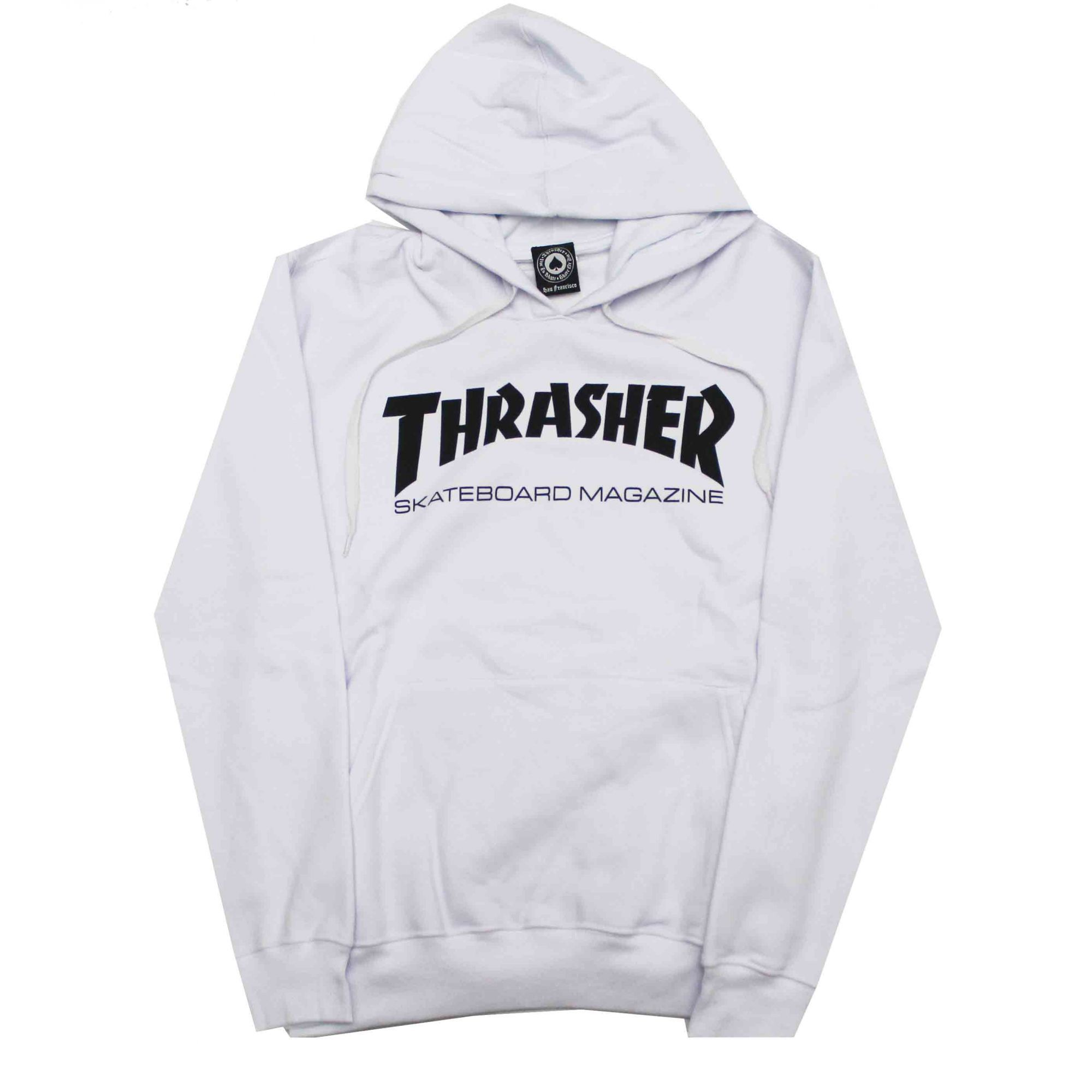 Moletom Thrasher Magazine Canguru Skate Mag - Branco