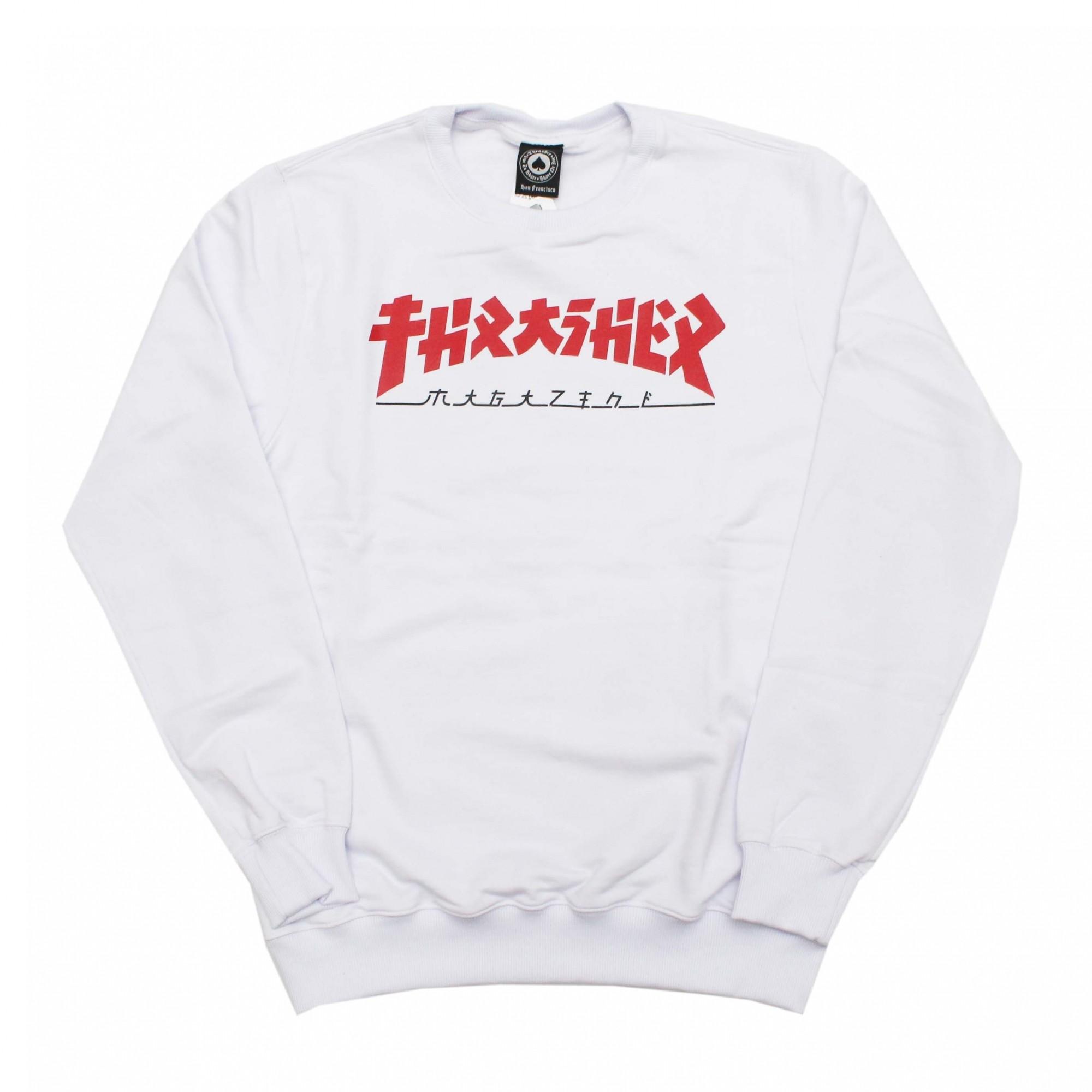 Moletom Thrasher Magazine Careca Godzilla - Branco