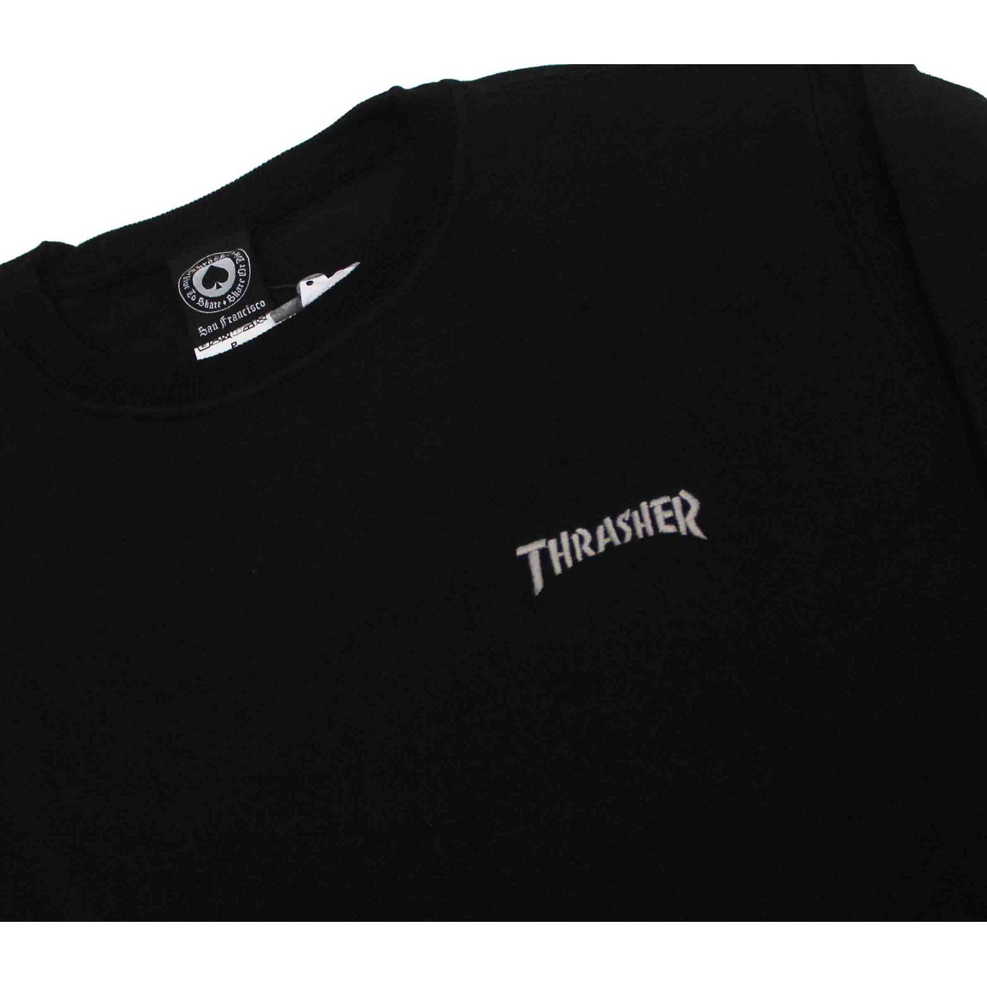 Moletom Thrasher Magazine Mini Logo Crewneck Black