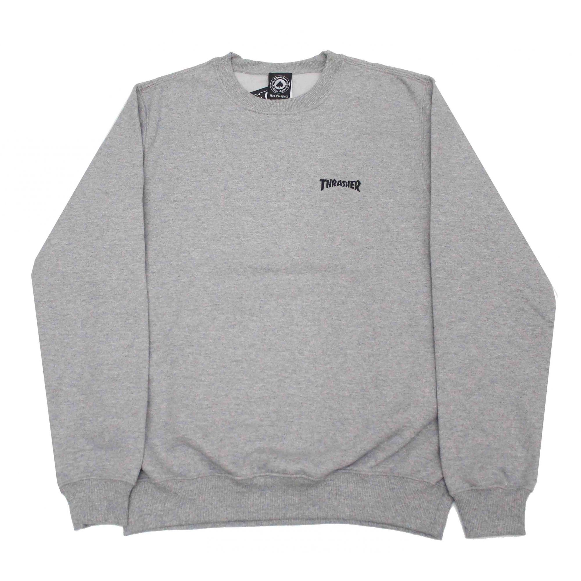 Moletom Thrasher Magazine Mini Logo Crewneck Grey