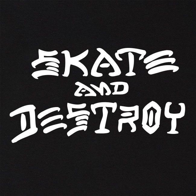 Moletom Thrasher Magazine Skate and Destroy Hoodie Black