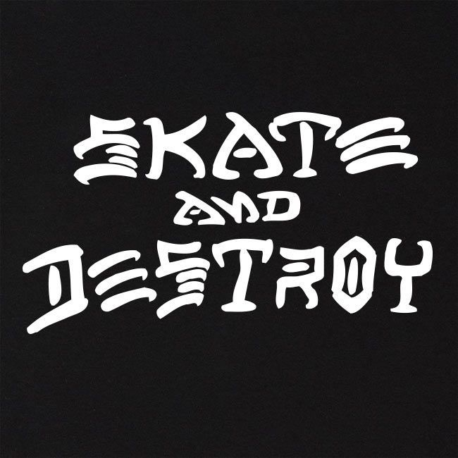 Moletom Thrasher Magazine Skate and Destroy Hoodie Black