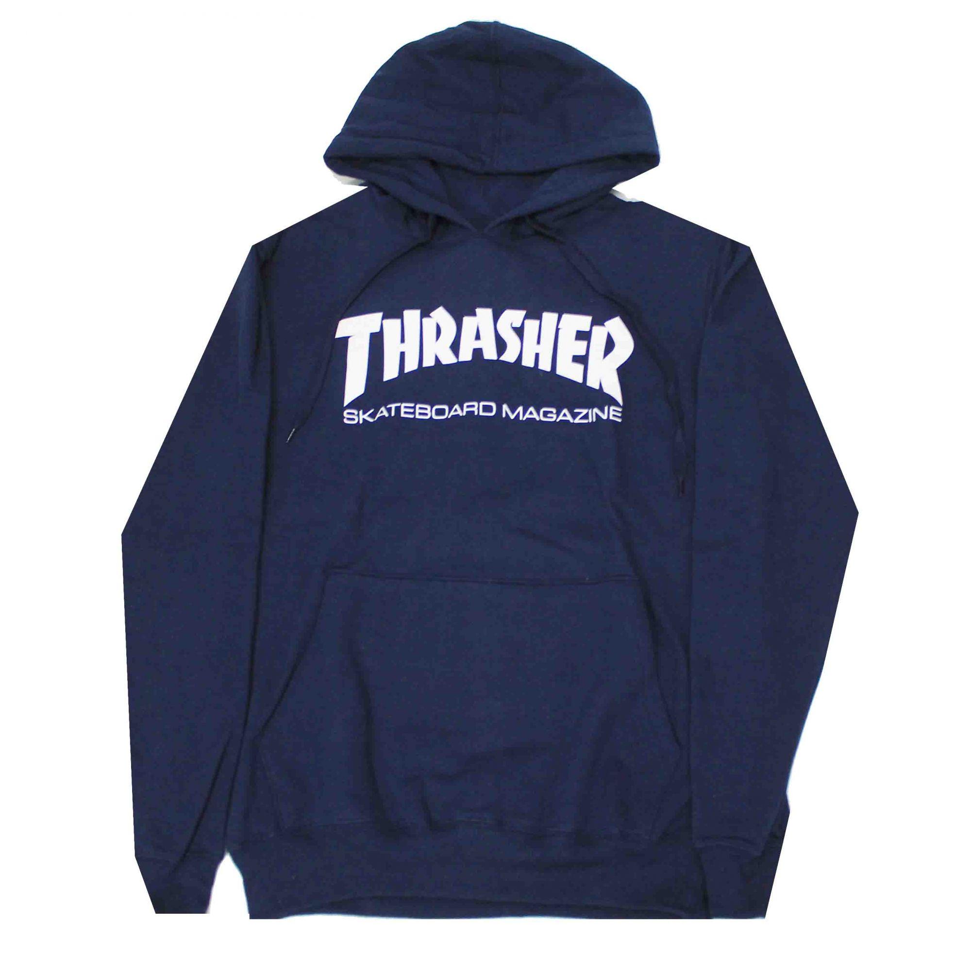 Moletom Thrasher Magazine Skate Mag Hoodie Blue Navy