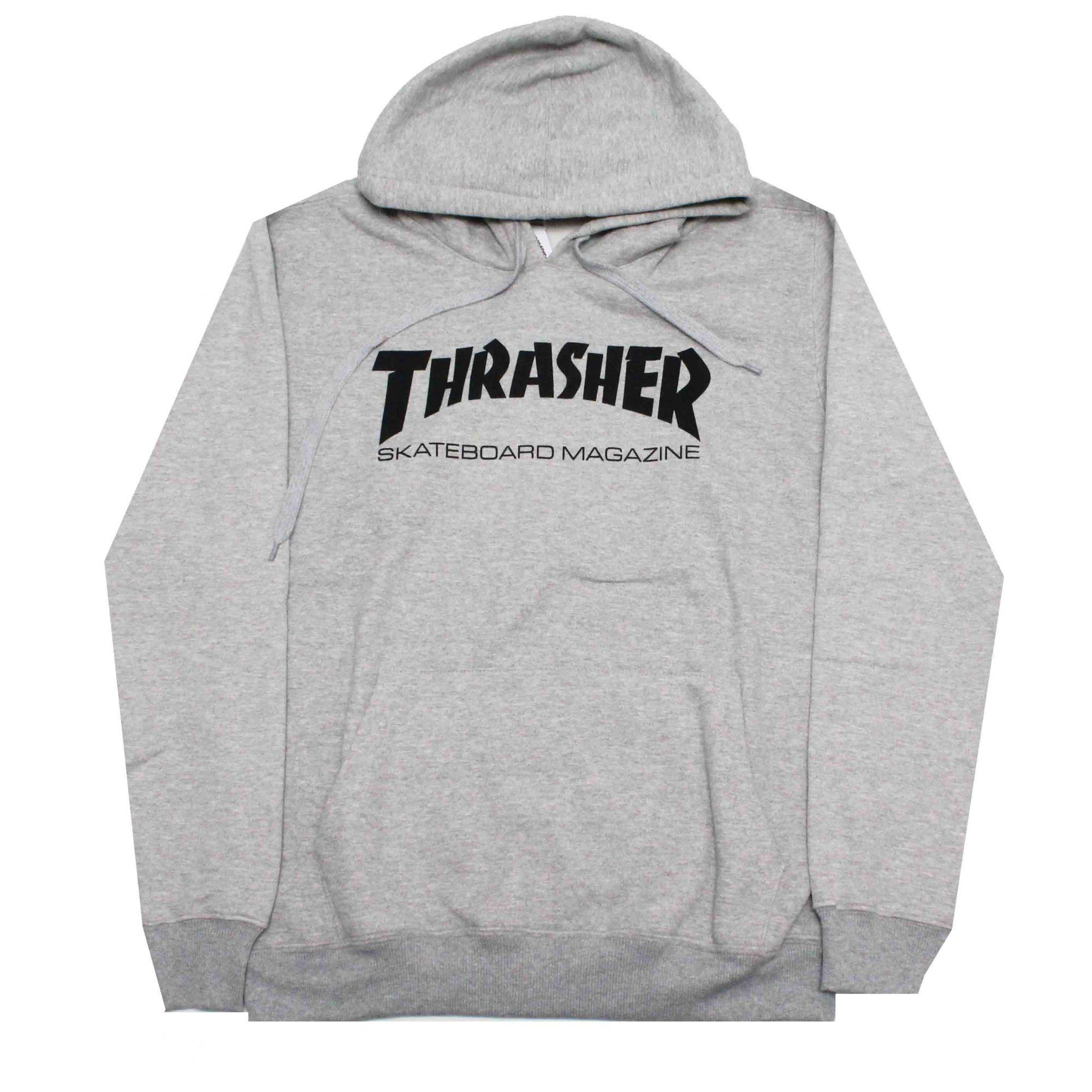 Moletom Thrasher Magazine Skate Mag Hoodie Grey