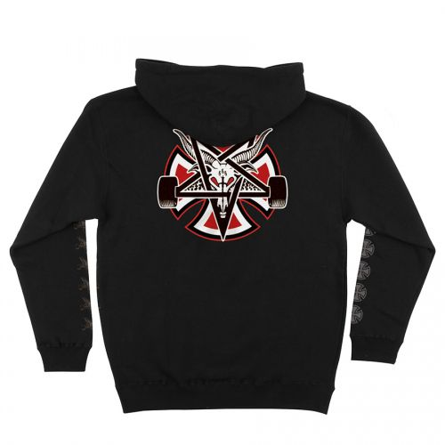 Moletom Thrasher Magazine x Independent Fechado Pentagram Cross Black