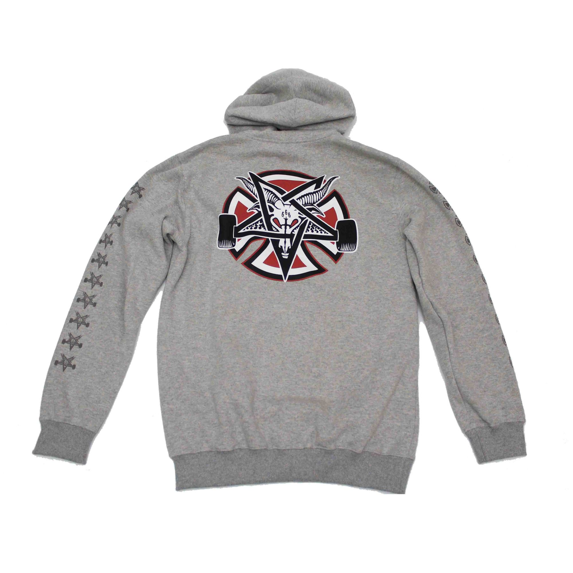 Moletom Thrasher Magazine x Independent Fechado Pentagram Cross Grey
