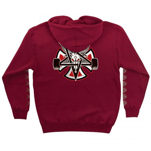 Moletom Thrasher Magazine x Independent Fechado Pentagram Cross Red