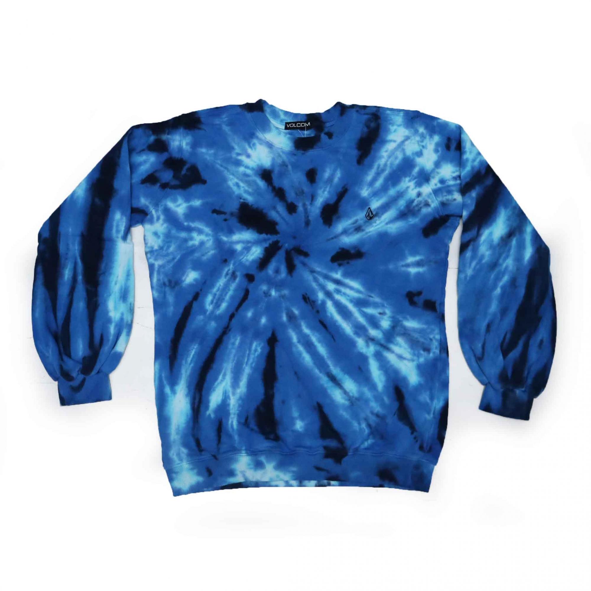 Moletom Volcom Careca Booza - Tie Dye Azul