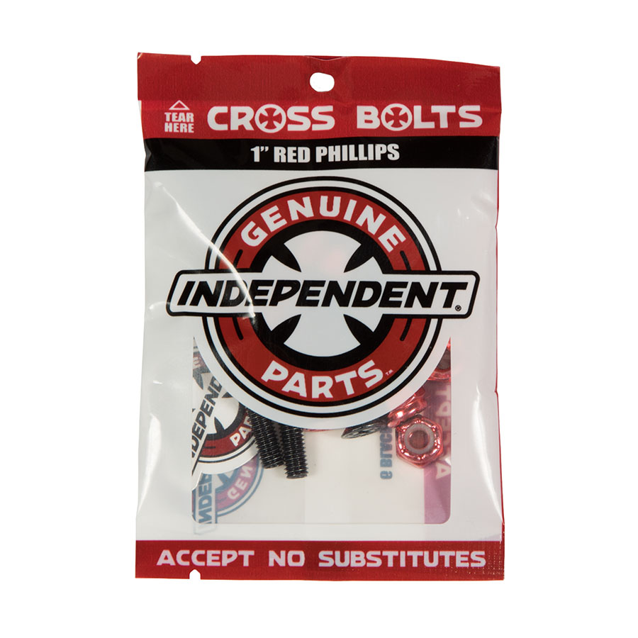 Parafuso de Base Independent Genuine Parts Phillips - Vermelho/Preto  1
