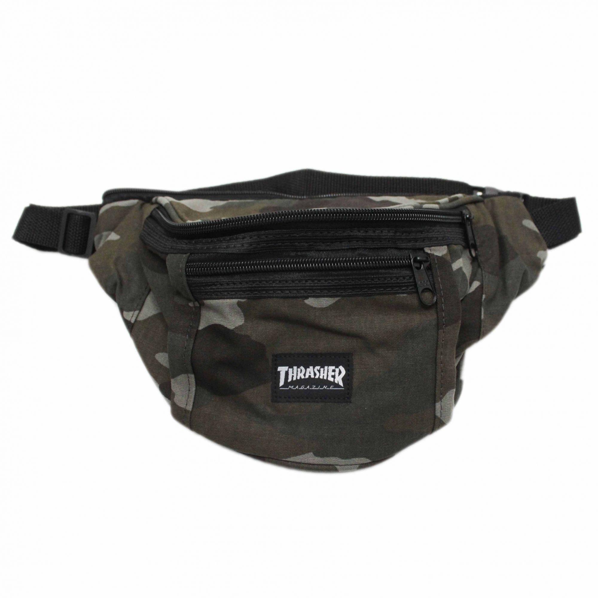 Pochete Thrasher Magazine Skate Mag Bum Bag Pack Camuflado