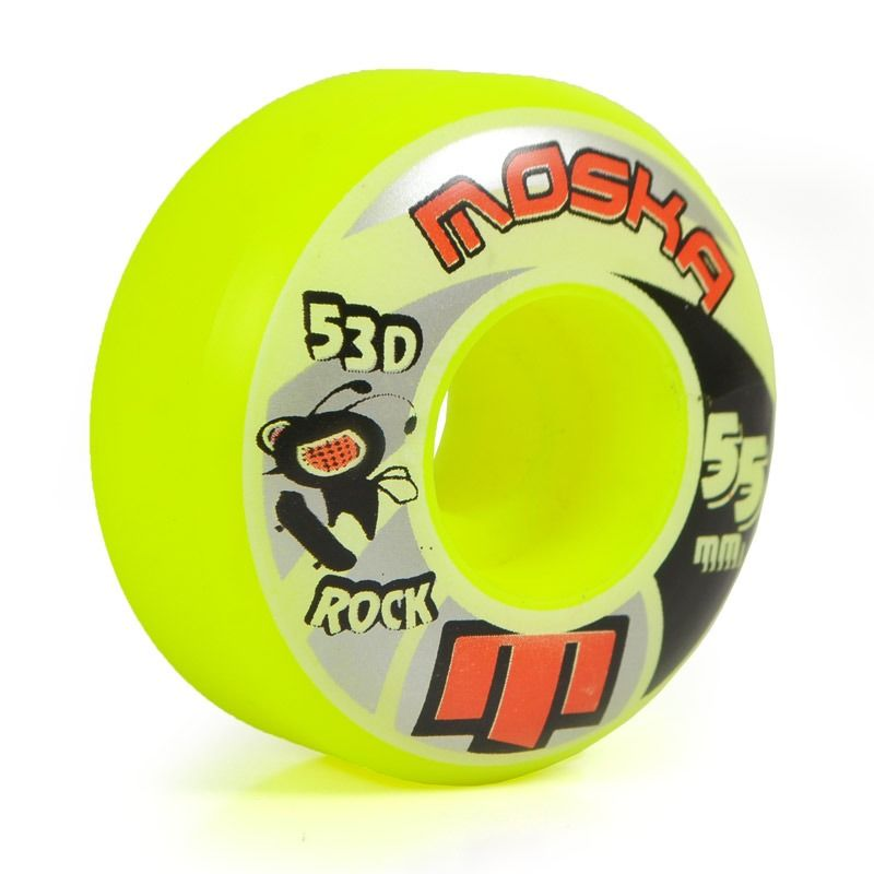 Roda Moska Rock Yellow 53d - 55mm