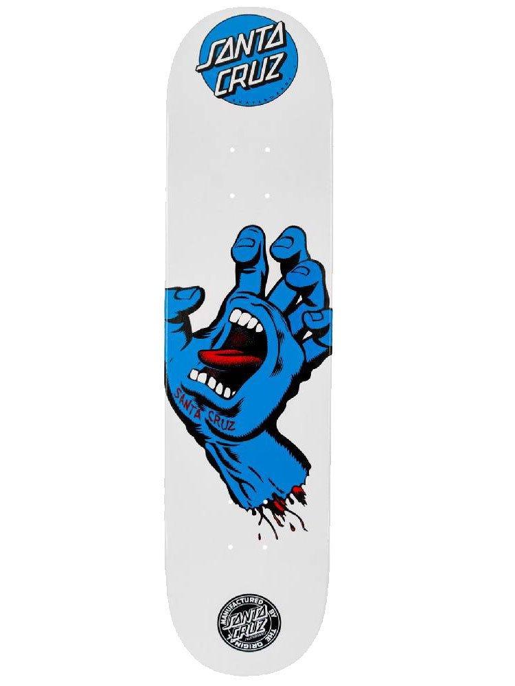 Shape Santa Cruz Marfim Screaming Hand Branco/Azul - 7.9