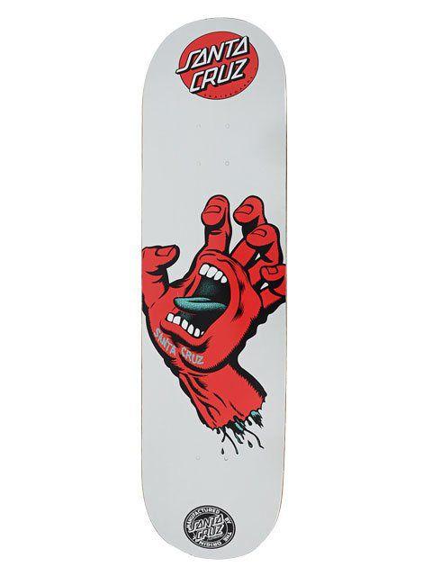 Shape Santa Cruz Marfim Screaming Hand Metalic Cinza/Vermelho - 8.75