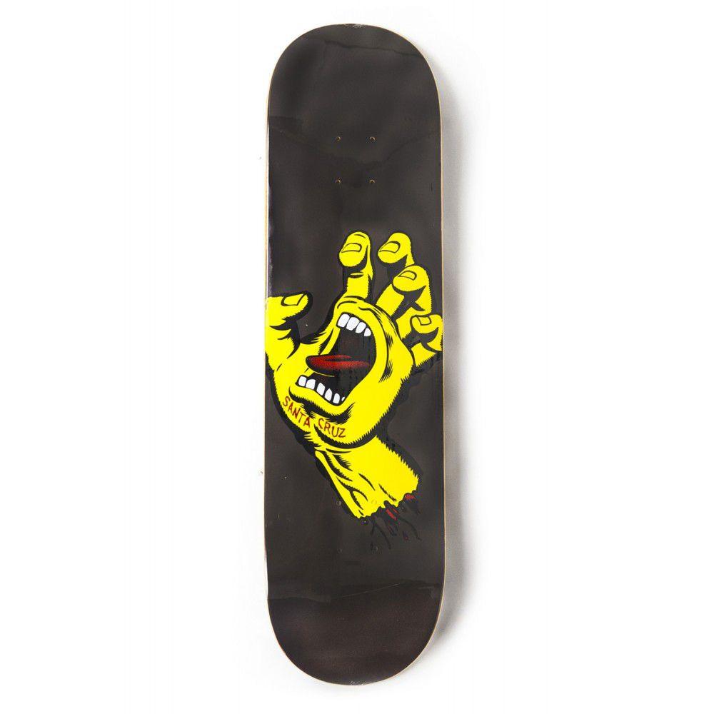 Shape Santa Cruz Marfim Screaming Hand Metalic Preto/Amarelo - 8.25