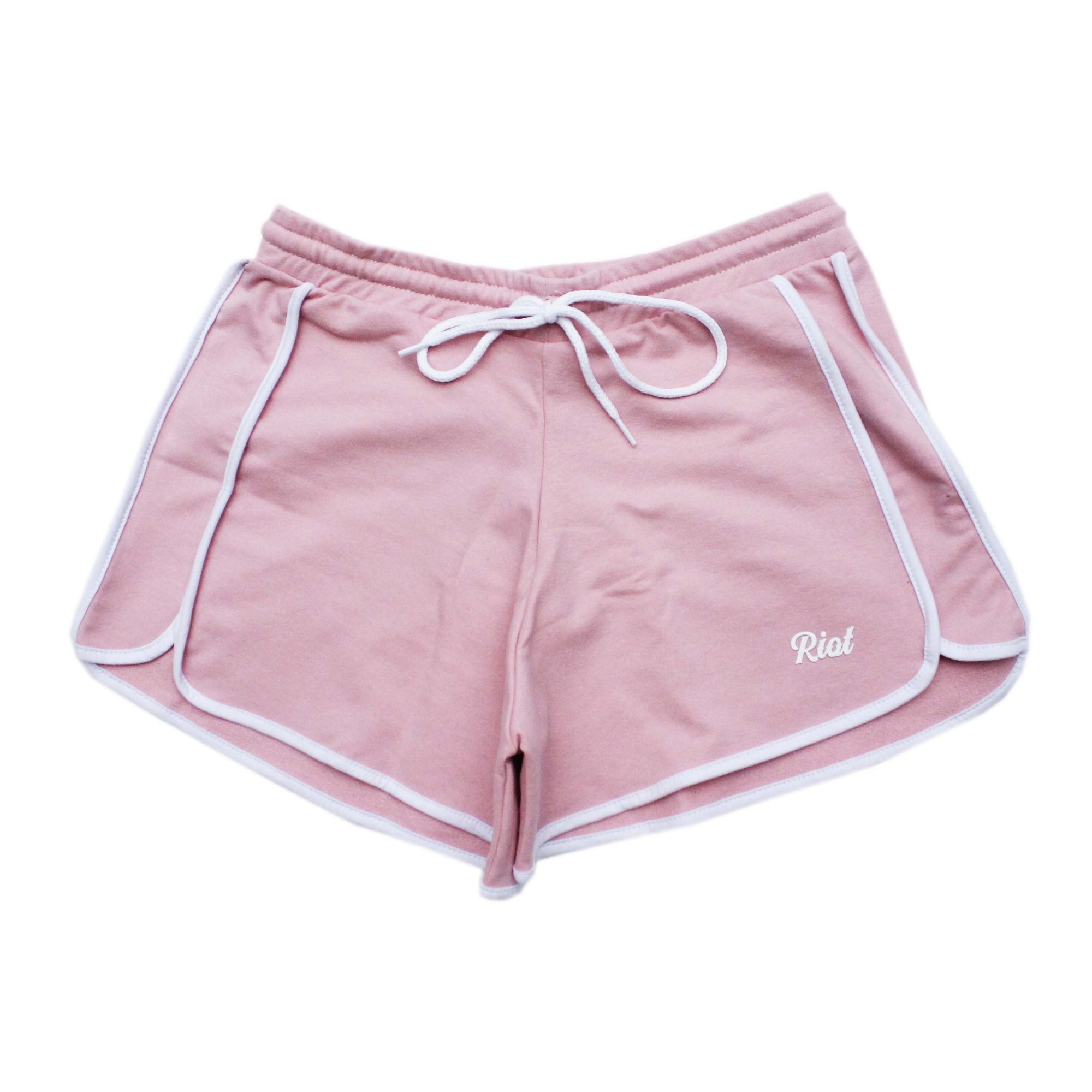 Shorts Riot Runner Rosa/Branco