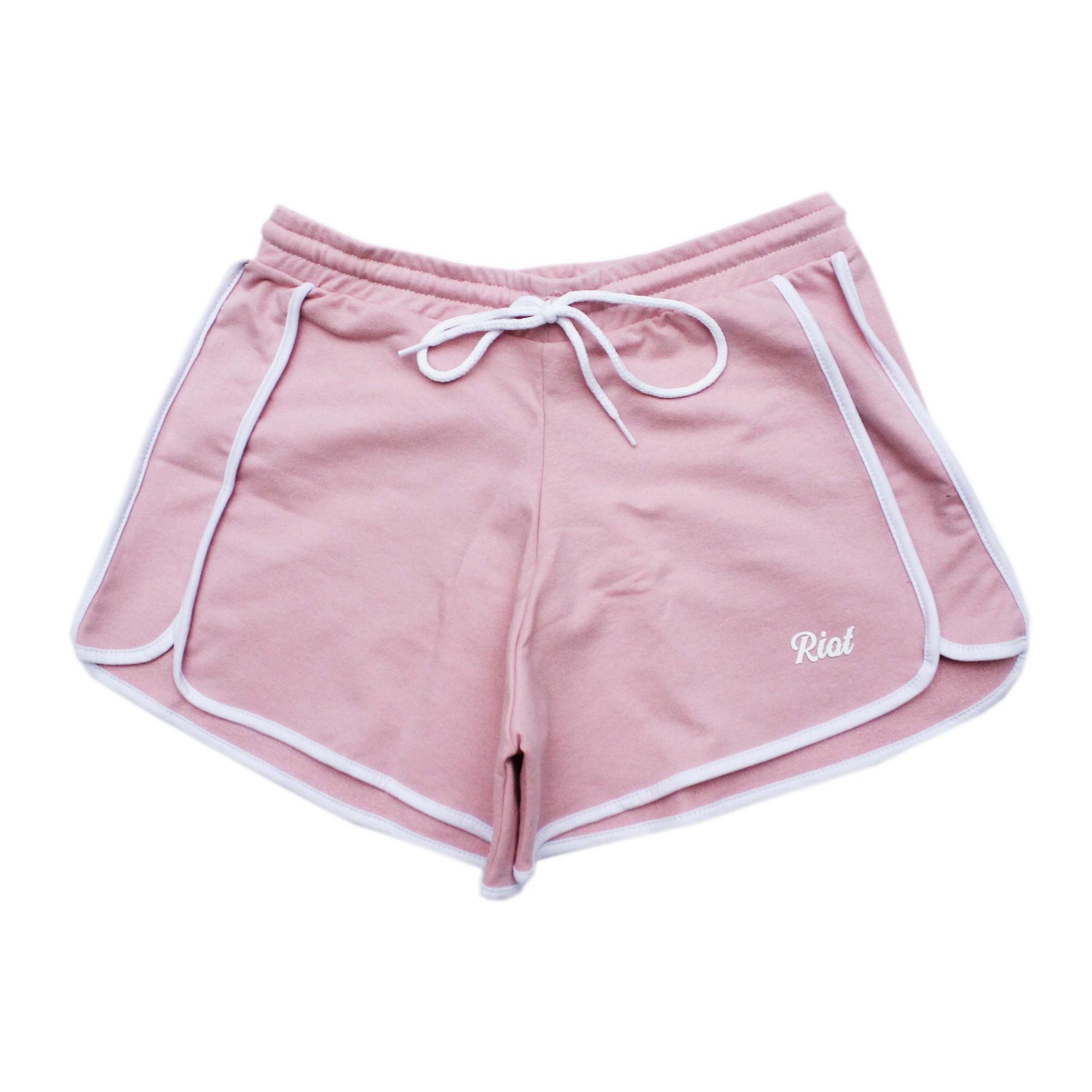 Shorts Riot Runner - Rosa/Branco