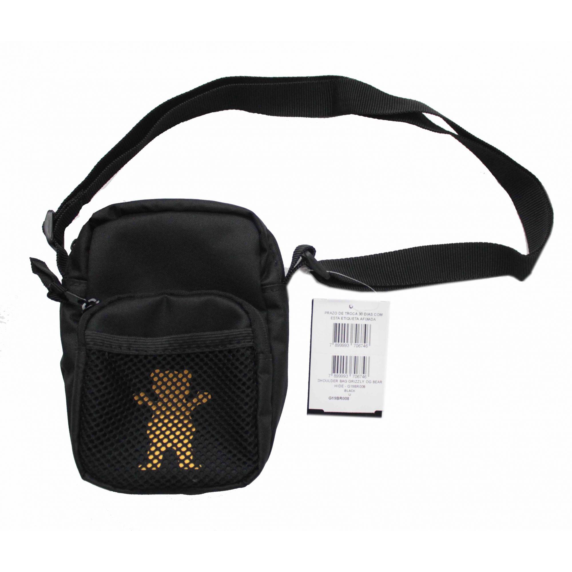 Shoulder Bag Grizzly Og Bear Hide Preto/Amarelo