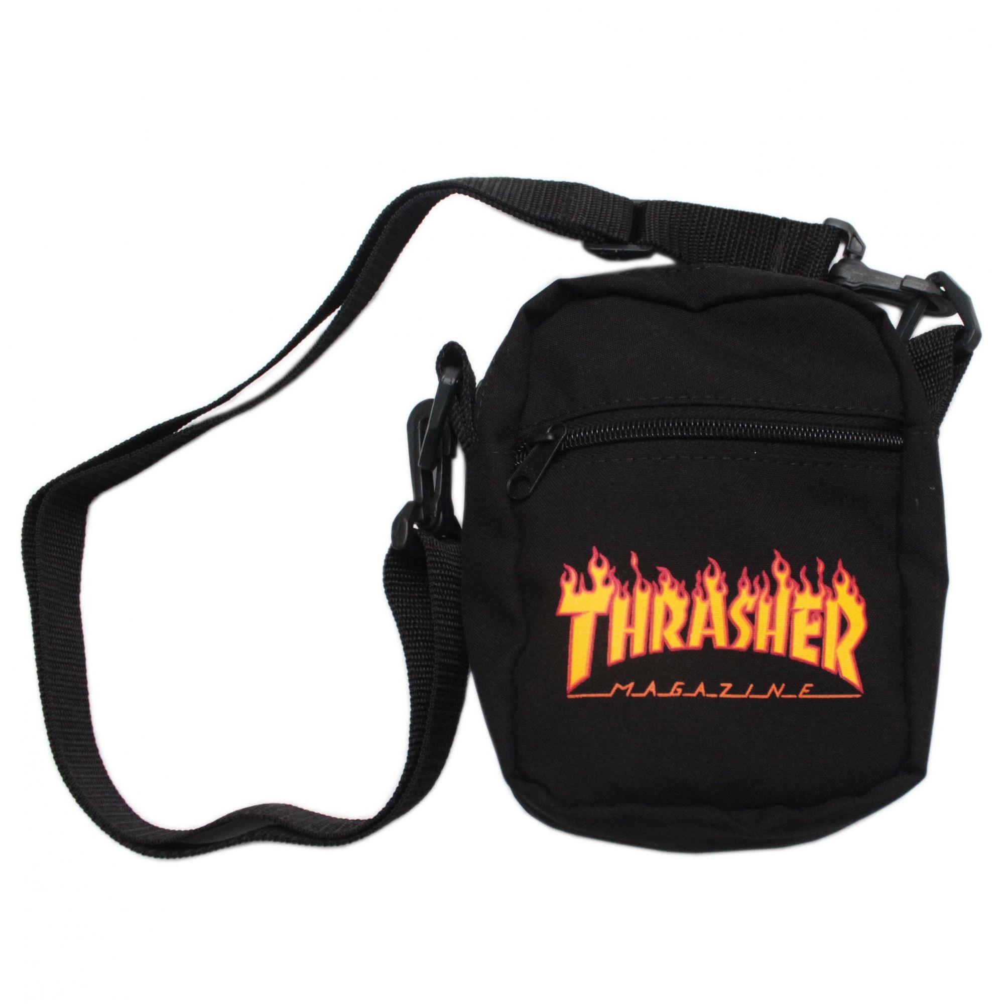 Shoulder Bag Thrasher Magazine Classic Flame - Preto