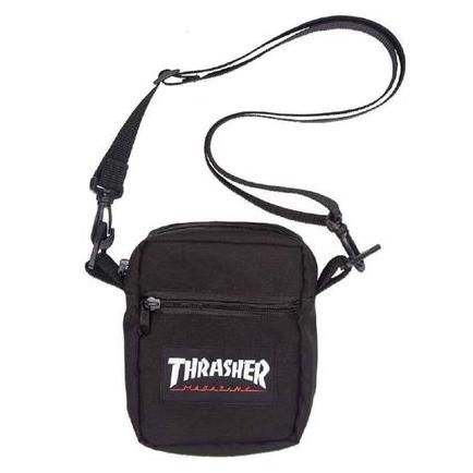 Shoulder Bag Thrasher Magazine Logo Patch - Preto
