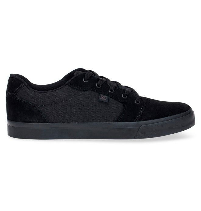 Tênis DC Shoes  Anvil LA Black/Black/Black