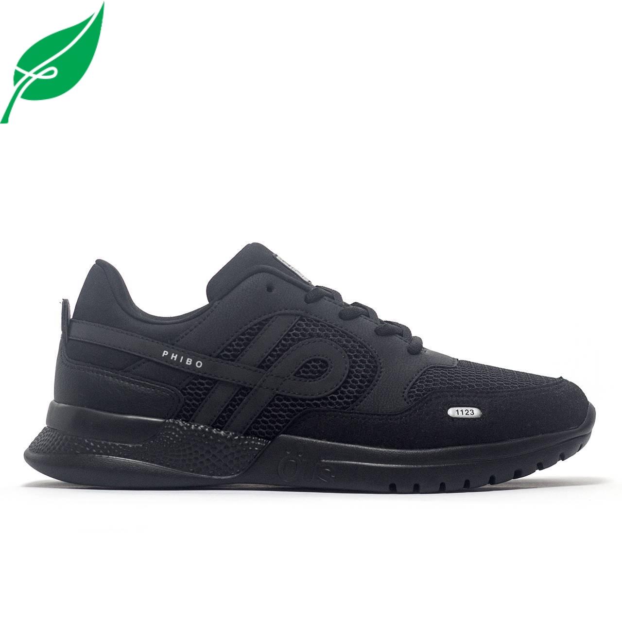 Tênis ÖUS Phibo 1123 Black Reflect OE - Preto/Preto (350002)