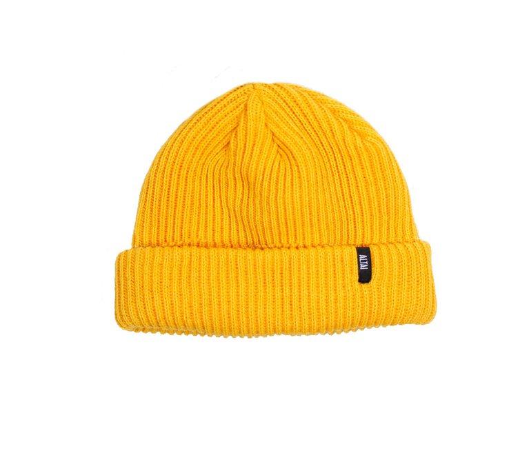 Touca Altai Canelado - Amarelo