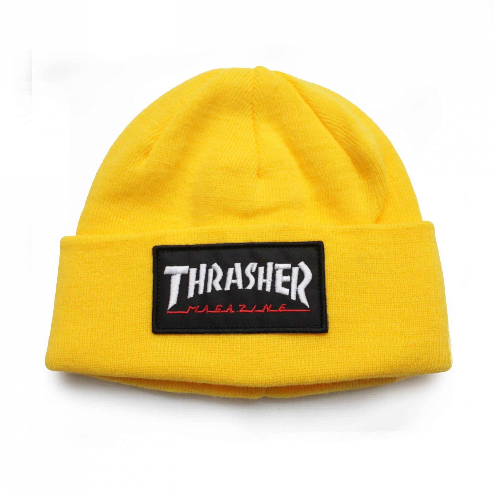 Touca Thrasher Magazine Logo Patch Amarelo