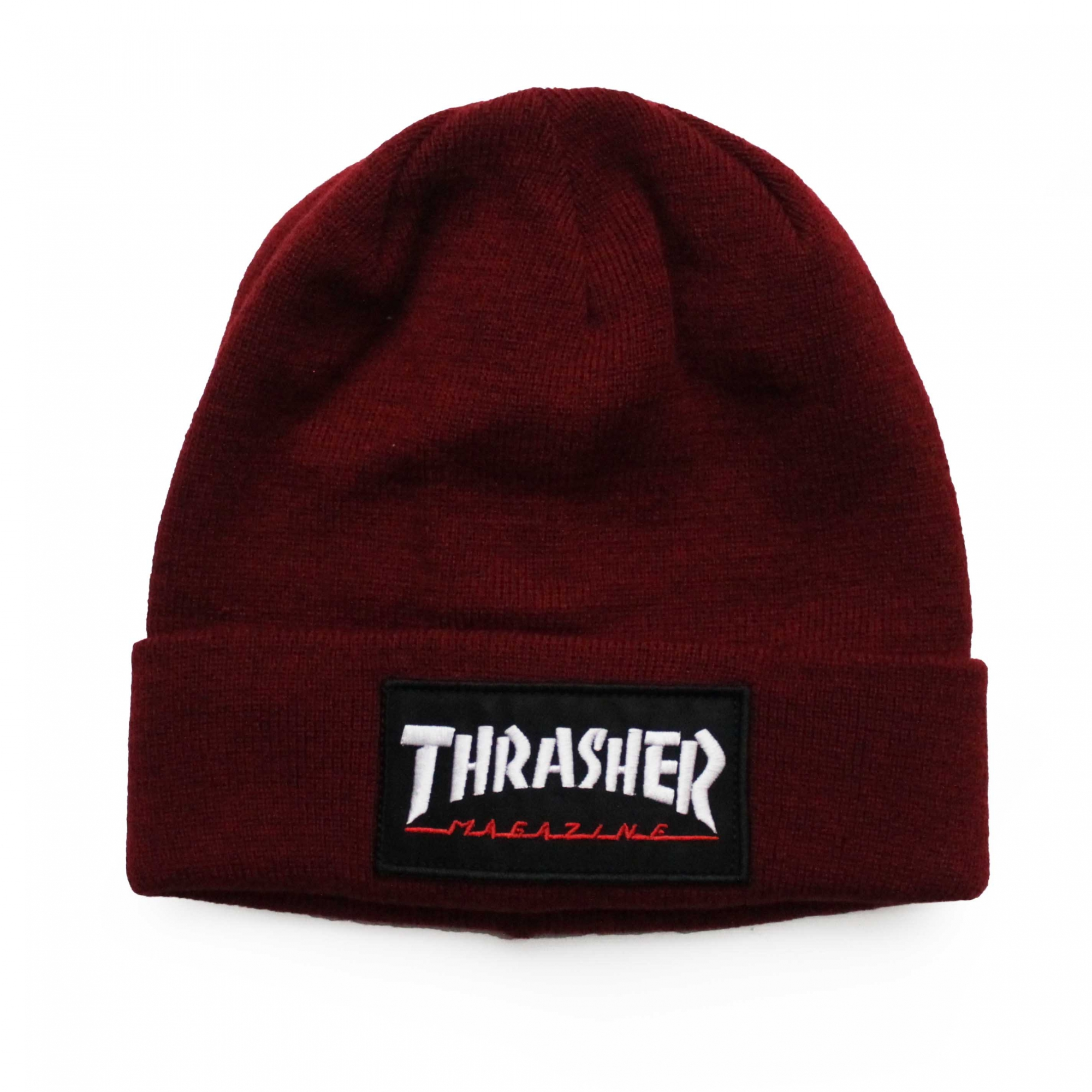 Touca Thrasher Magazine Logo Patch - Vinho