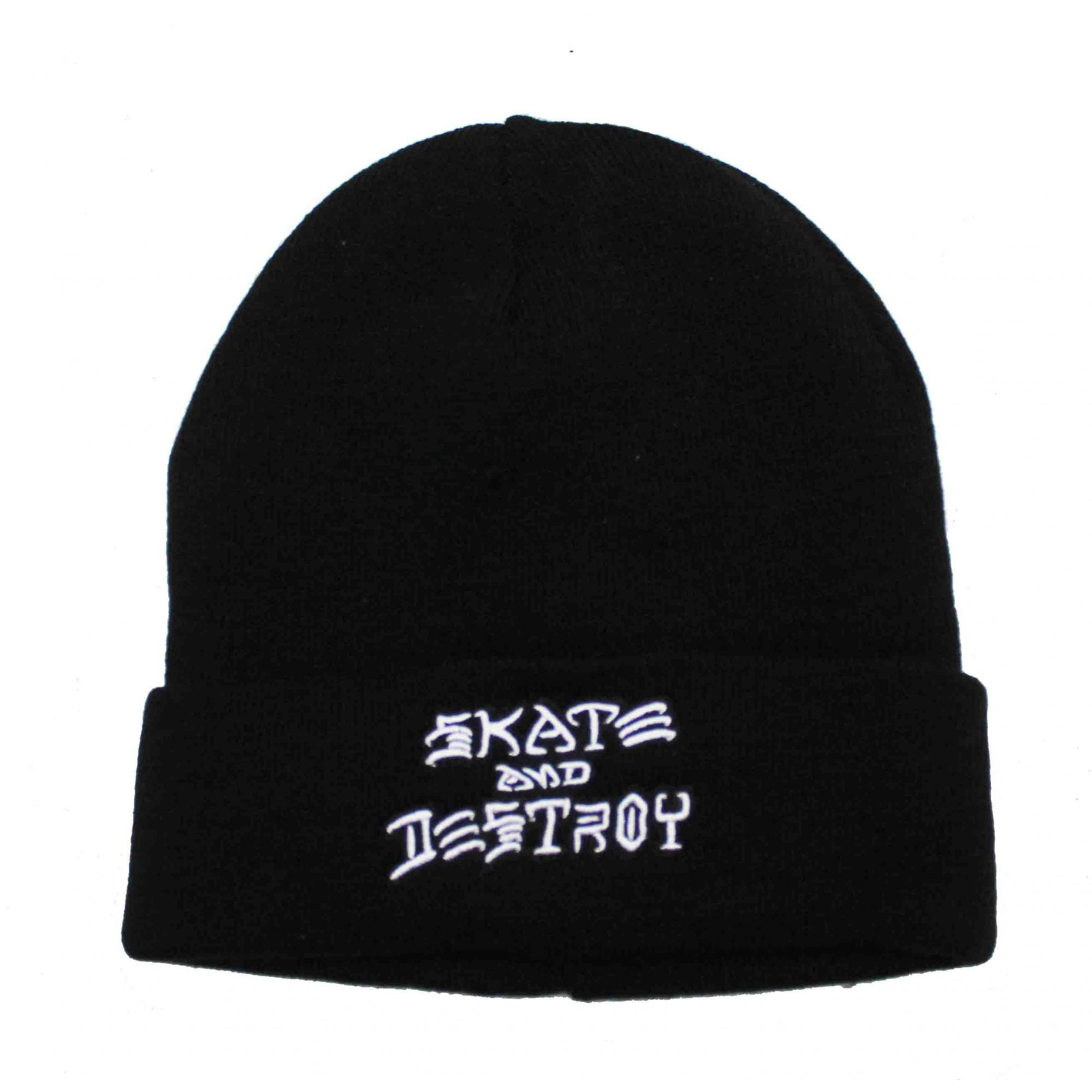 Touca Thrasher Magazine Skate and Destroy  Embroidery Black