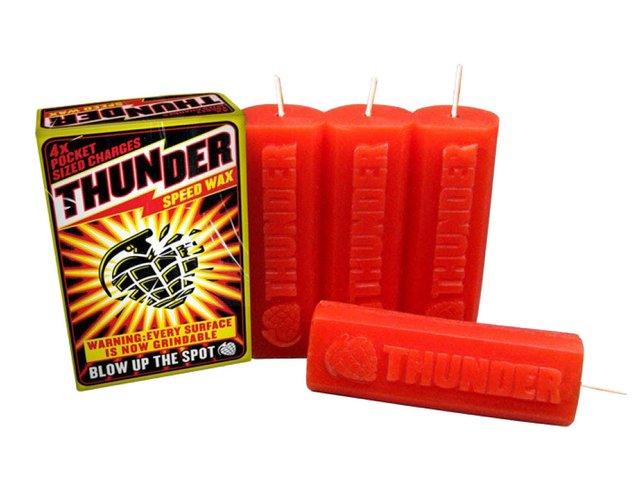 Vela Parafina Thunder Speed Wax - Vermelho (Importado)