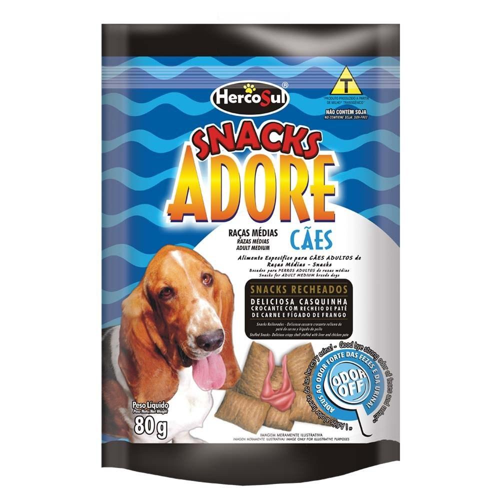 Adore Snack Cães Raças Médias Patê de Carne e Fígado de Frango - 80g