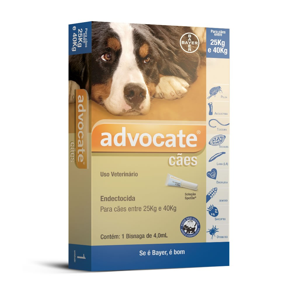 Advocate Cães 4,0ml (25 a 40kg)
