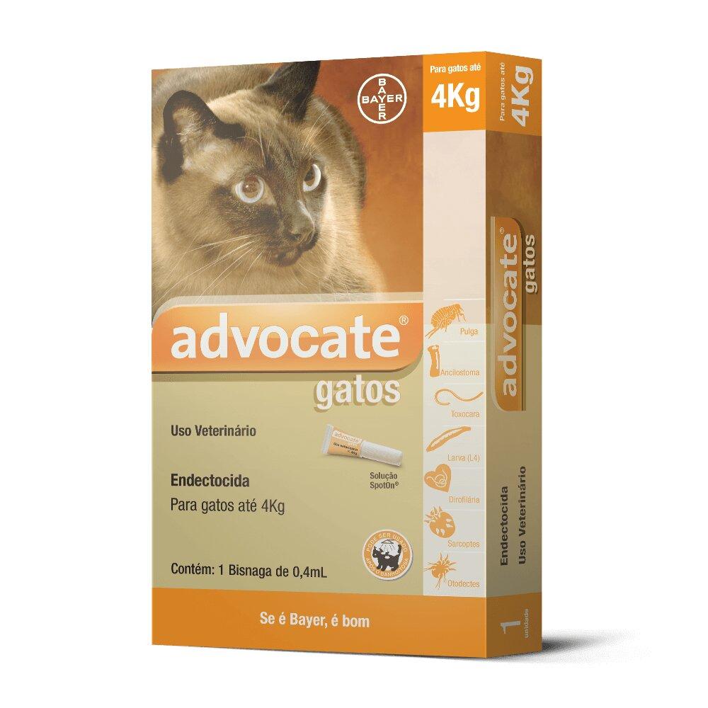 Advocate Gatos ( até 4kg )