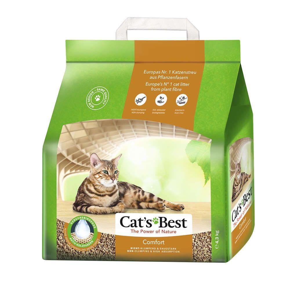 Areia Sanitária Granulado de Madeira Cats Best Comfort