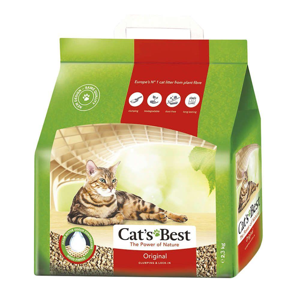 Areia Sanitária Granulado de Madeira Cats Best Original